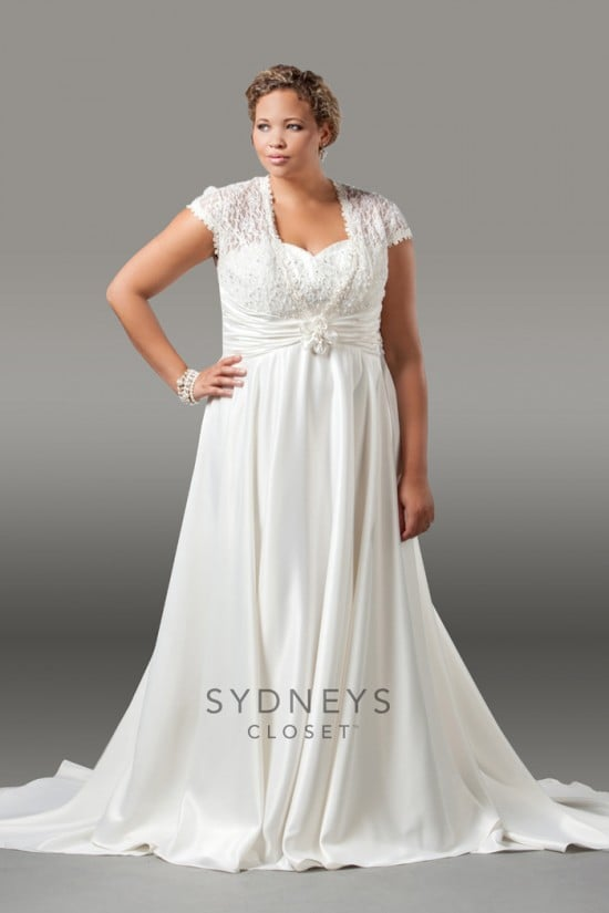 High end plus size designers for Plus size wedding dresses size 32 and up