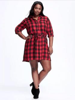 Plus Size Plaid Dress // Fatgirlflow.com
