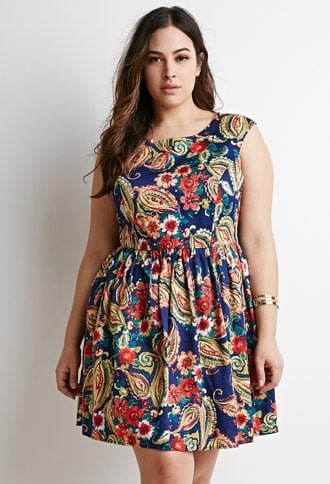 Paisley Print Dress by Forever 21+ Up to size 3X