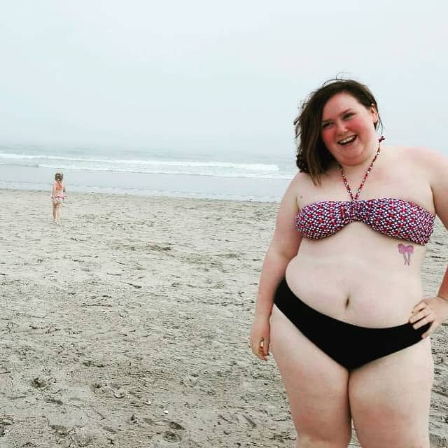 Sexy bbw on the beach