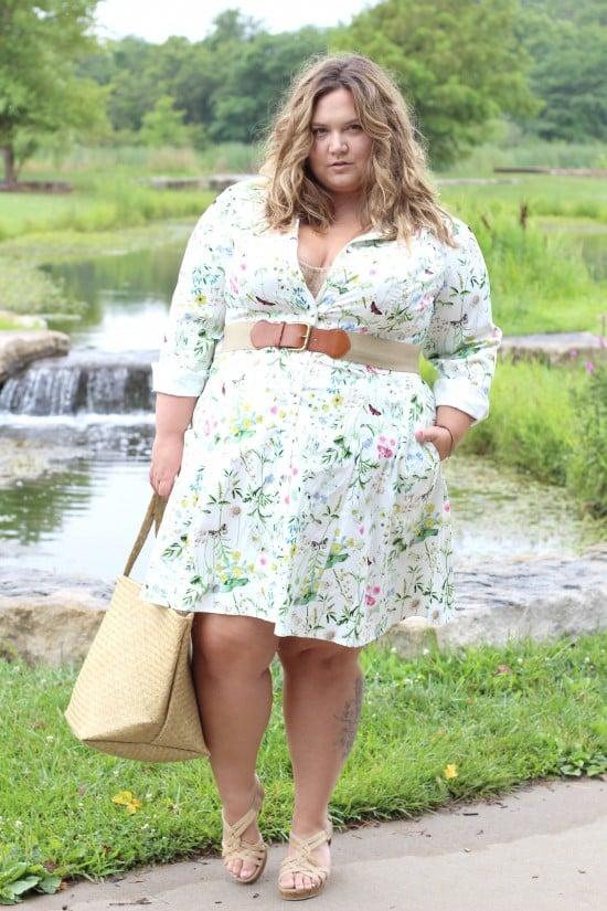 Plus Size Shirtdress by Eshakti    Fatgirlflow.com