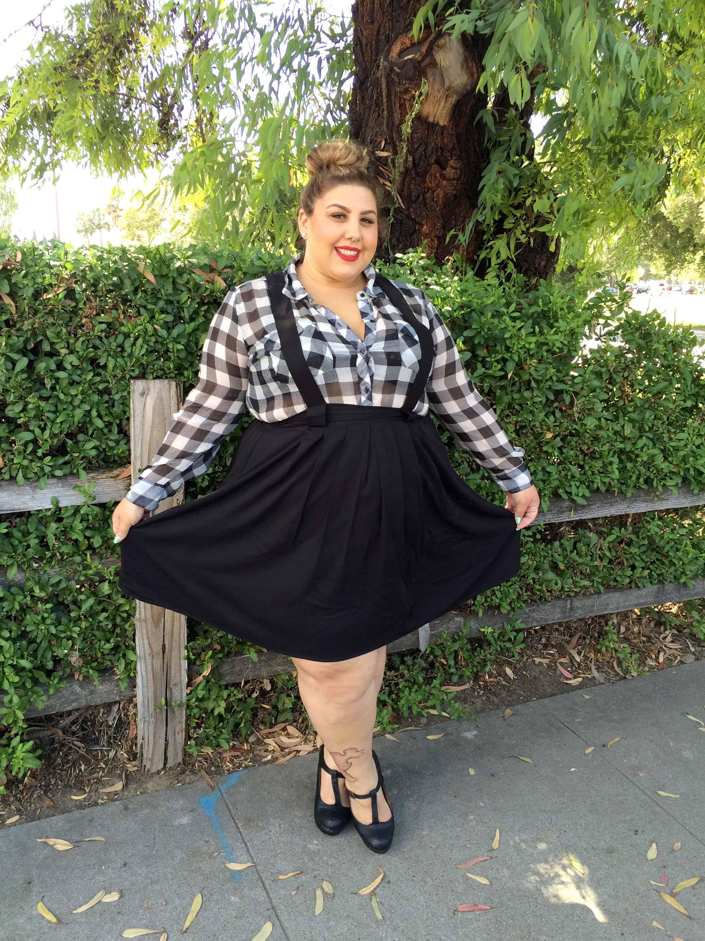 suspender skirt and fat friends - fat girl flow
