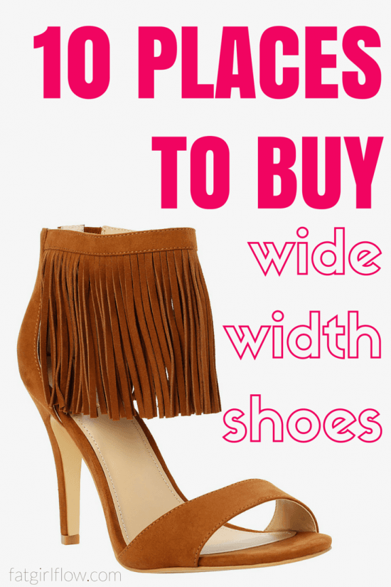 10 Places To Shop For Wide Width Shoes || www.fatgirlflow.com