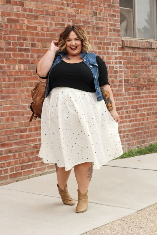 One Skirt Two Ways // Fatgirlflow.com