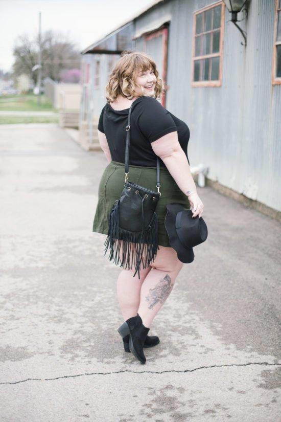 Chubby girls in mini skirts
