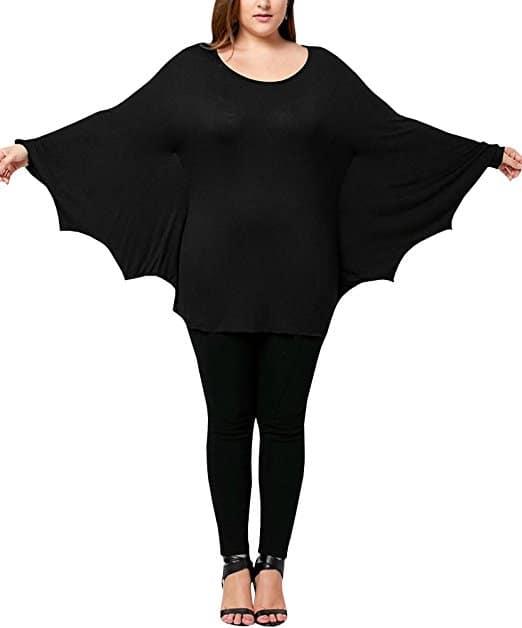 dressit womenu0027s halloween bat costumes plus size batwing sleeve scoop neck tunic top shirts size 1x5x